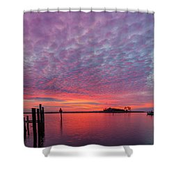 Saxis Sunset Shower Curtain