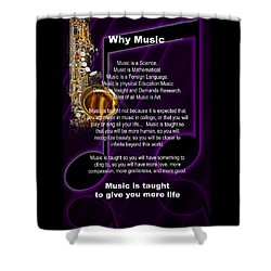 Saxophone Photograph Why Music For T-shirts Posters 4819.02 Shower Curtain