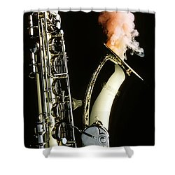 Saxophone With Smoke Shower Curtain