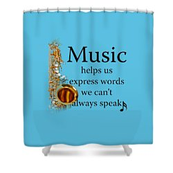 Saxophones Express Words Shower Curtain
