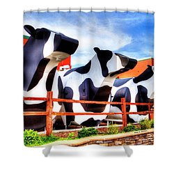 Say Cheese Shower Curtain by Dale R Carlson