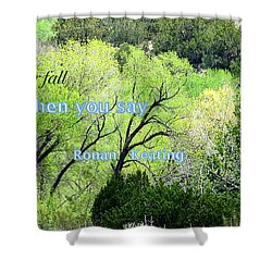 Shower Curtain featuring the photograph Say Nothing by David Norman