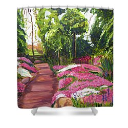 Sayen Path Shower Curtain