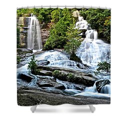 Shower Curtain featuring the photograph Sc Twin Falls by Frozen in Time Fine Art Photography