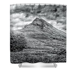 Scafell Pike In Greyscale Shower Curtain