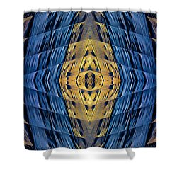 Scaffolding And Tarp 7676 N70v2 Shower Curtain by Raymond Kunst