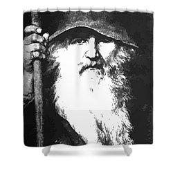 Scandinavian Mythology The Ancient God Odin Shower Curtain