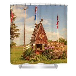 Scandy Memorial Park Shower Curtain by Trey Foerster