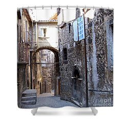Scanno Walkway Shower Curtain by Judy Kirouac