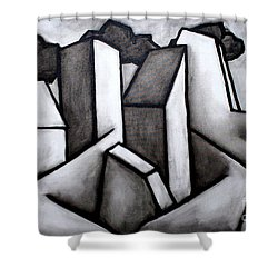 Scape Shower Curtain by Thomas Valentine