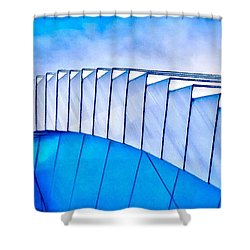 Scaped Glamour Shower Curtain by Catherine Lott