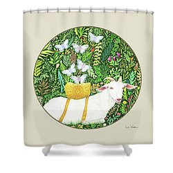 Scapegoat Button Shower Curtain