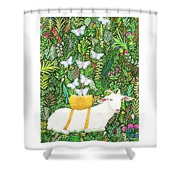 Scapegoat Healing Shower Curtain