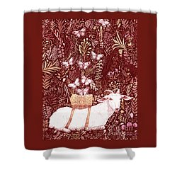Shower Curtain featuring the digital art Scapegoat Healing Tapestry Print by Lise Winne