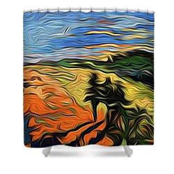 Scapen Shadows Shower Curtain