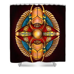 Scarab Beetle Design Shower Curtain