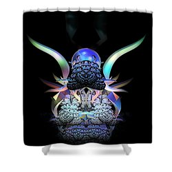 Scarab Shower Curtain by Julie Grace