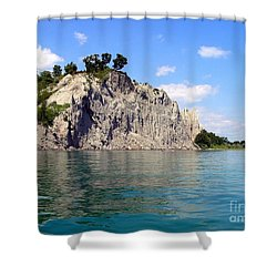 Scarborough Bluffs-lake View Shower Curtain