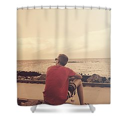 Shower Curtain featuring the photograph Scarborough Jetty Sunset by Jorgo Photography - Wall Art Gallery