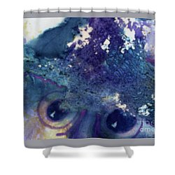 Shower Curtain featuring the painting Scarecrow Eyes by Kathy Braud