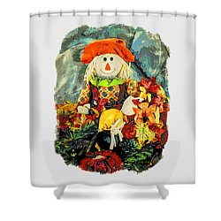 Shower Curtain featuring the photograph Scarecrow T-shirt by Kathy Kelly