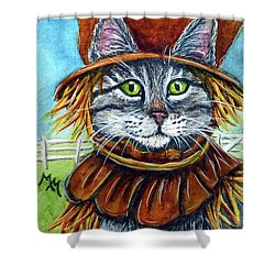 Scarecrow Tabby Shower Curtain