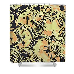Scarecrows Of Autumn Harvest Shower Curtain