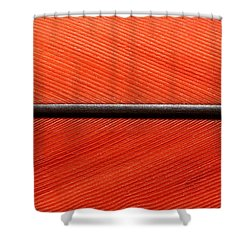 Scarlet Macaw Feather Shower Curtain