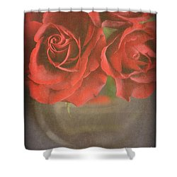 Shower Curtain featuring the photograph Scarlet Roses by Lyn Randle
