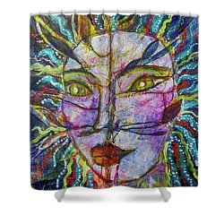 Scarred Beauty Shower Curtain