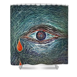Scars In My Soul Shower Curtain by Marianna Mills
