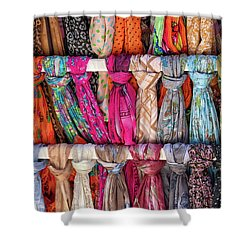 Scarves In Mykonos Shower Curtain