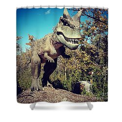 Scary Carnotaurus Shower Curtain