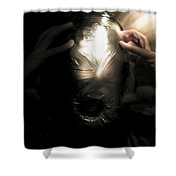 Scary Face Of Terror Shower Curtain by Jorgo Photography - Wall Art Gallery