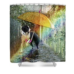 Shower Curtain featuring the photograph Scary Graffiti by LemonArt Photography