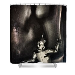 Scary Tin Man Wizard Of Oz Shower Curtain