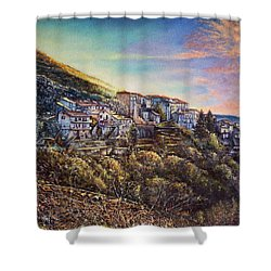Scattered Clouds Shower Curtain by Michel Angelo Rossi