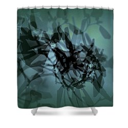 Scattered Shadows Shower Curtain