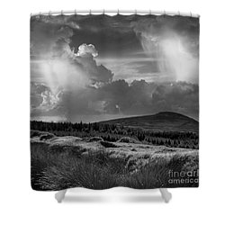 Scattering Clouds Over The Cronk Shower Curtain