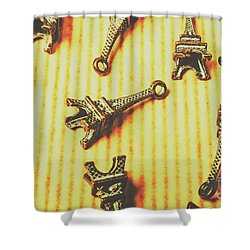Scatterings From The City Of Romance Shower Curtain
