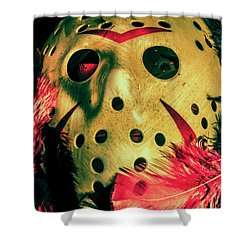 Scene From A Fright Night Slasher Flick Shower Curtain