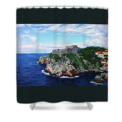 Scene From The Sea Shower Curtain
