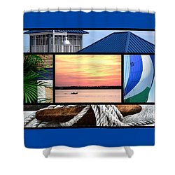 Scenes From The Bay Shower Curtain
