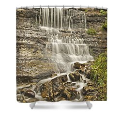 Scenic Alger Falls  Shower Curtain by Michael Peychich