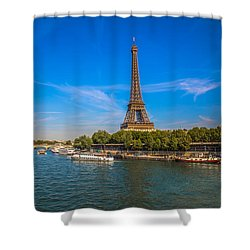 Shower Curtain featuring the photograph Scenic Eiffel Tower  by Kim Wilson
