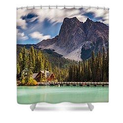 Scenic Emerald Lake  Shower Curtain