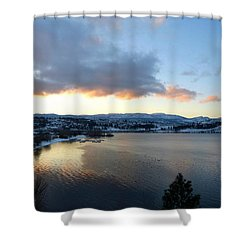 Shower Curtain featuring the photograph Scenic Lake Country by Will Borden