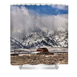 Shower Curtain featuring the photograph Scenic Mormon Homestead by Adam Jewell