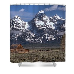 Scenic Mormon Homestead Shower Curtain by Adam Jewell