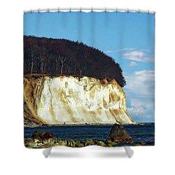 Scenic Rugen Island Shower Curtain by Anthony Dezenzio